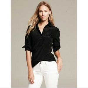 BR long sleeve silk blouse